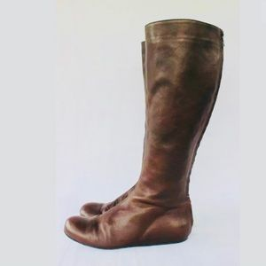Lanvin Chocolate Brown Tall Zip Second Skin Boot 9
